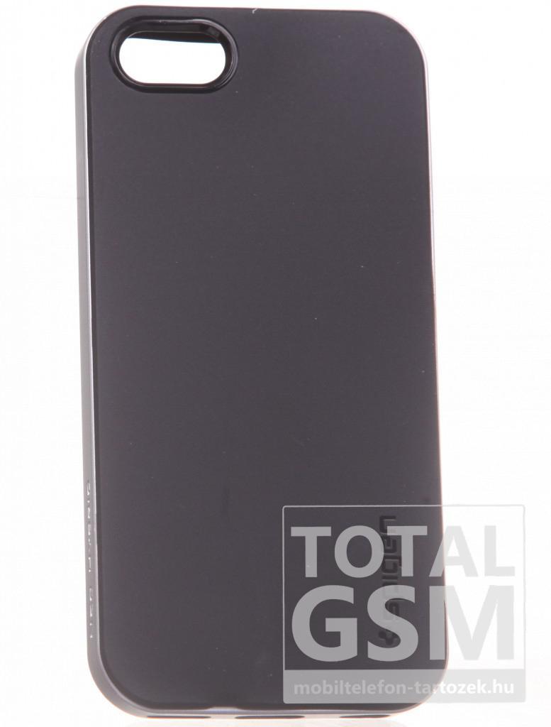 Apple iPhone 5C fekete-ezüst kemény tok
