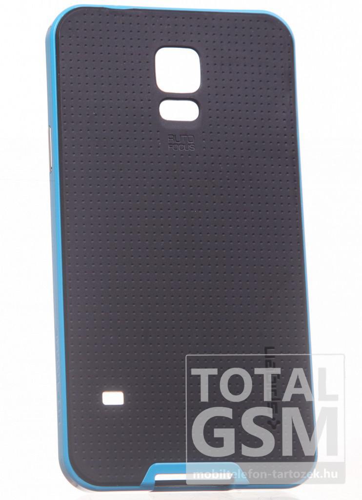 Samsung G900 Galaxy S5 fekete-kék kemény tok