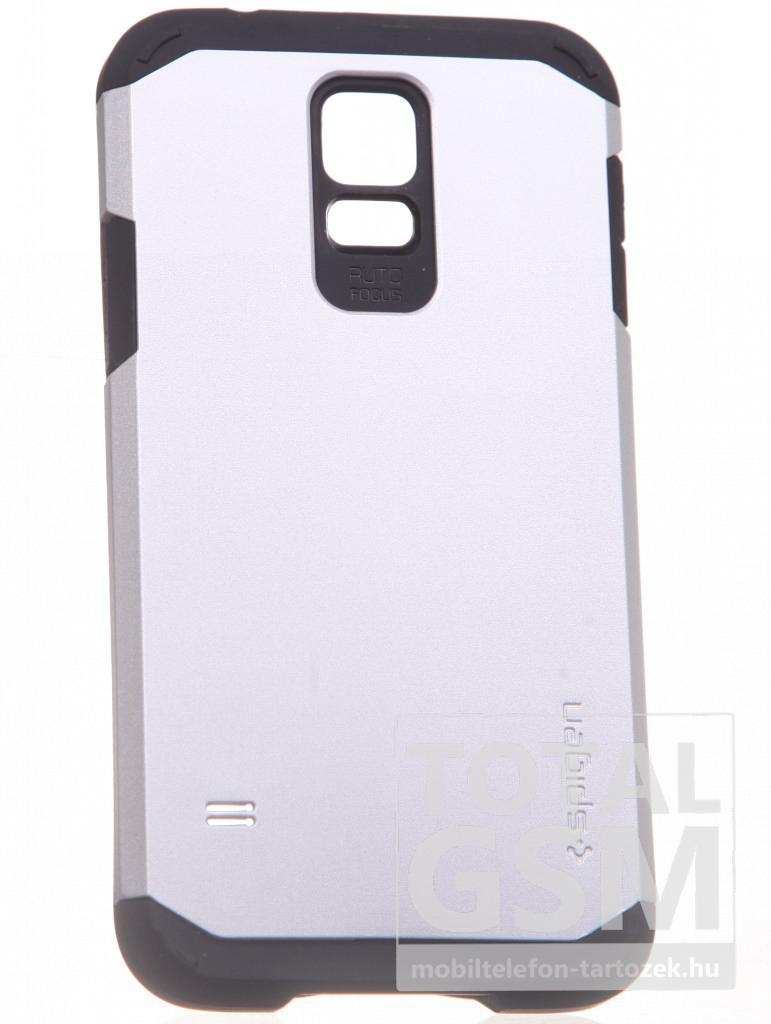 Samsung G900 Galaxy S5 ezüst-fekete kemény tok