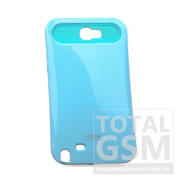 Samsung N7100 Galaxy Note 2 világoskék kemény szilikon tok