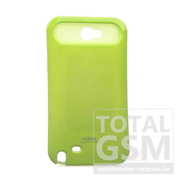 Samsung N7100 Galaxy Note 2 neonzöld kemény szilikon tok