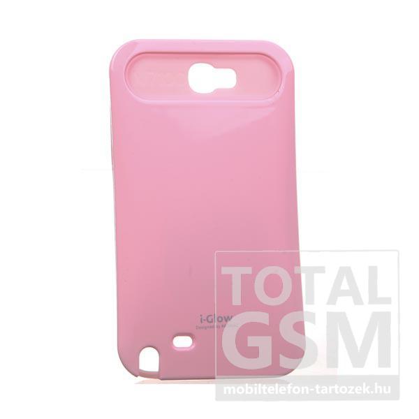 Samsung N7100 Galaxy Note 2 rózsaszín kemény szilikon tok