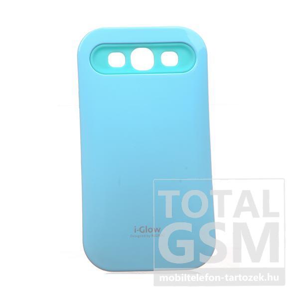 Samsung GT-I9300 Galaxy S3 világoskék kemény szilikon tok