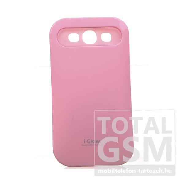 Samsung GT-I9300 Galaxy S3 rózsaszín kemény szilikon tok