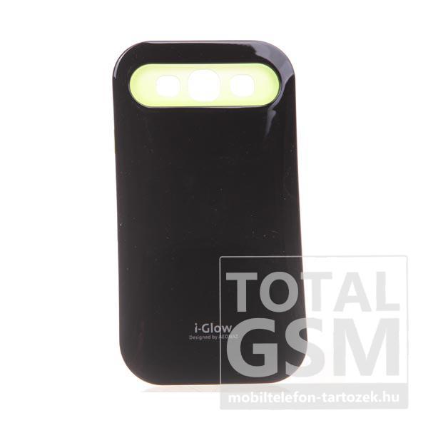 Samsung GT-I9300 Galaxy S3 fekete-citromsárga kemény szilikon tok