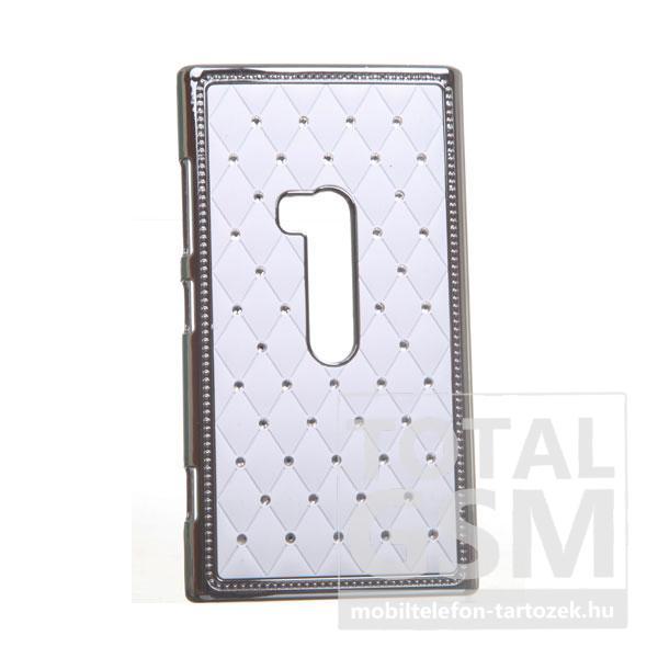 Nokia Lumia 920 ezüst-fehér kemény tok