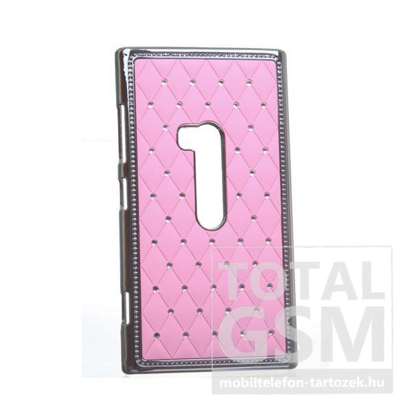 Nokia Lumia 920 ezüst-rózsaszín kemény tok