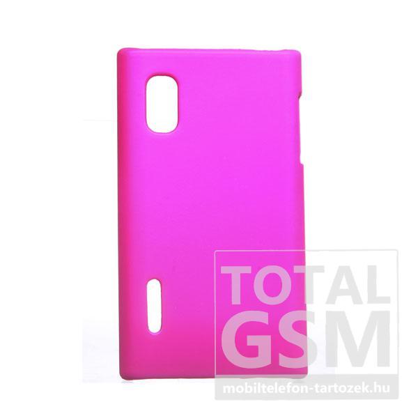 LG E610 Optimus L5 rózsaszín kemény tok