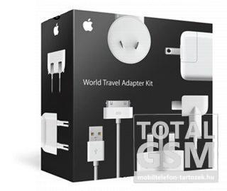 Hálózati töltő gyári Apple utazótöltő, EU, USA, UK, AU, Kínai adapterrel fehér