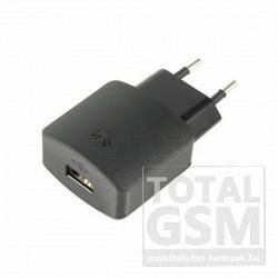 Hálózati töltő gyári Huawei USB aljzattal fekete