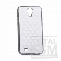Samsung GT-I9500 Galaxy S4 fehér-ezüst kemény tok