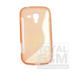 Samsung GT-S7560 Galaxy Trend narancssárga szilikon tok