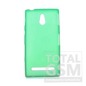 Sony Xperia P ST22i zöld szilikon tok