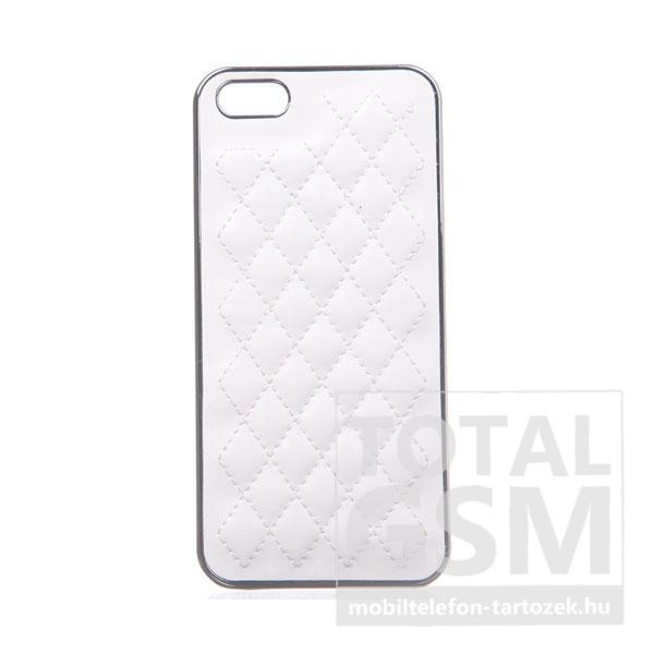 Apple Iphone 5S ezüst-fehér kemény tok