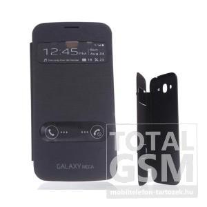 Samsung GT-I9152 Galaxy Mega 5.8 fekete oldalra nyíló ablakos flip tok