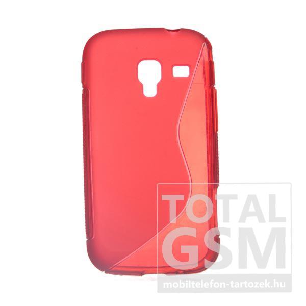 Samsung GT-I8160 Galaxy Ace 2 piros s-line szilikon tok