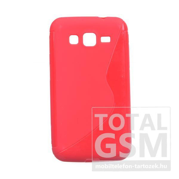 Samsung GT-I8580 Galaxy Core Advanced piros szilikon tok