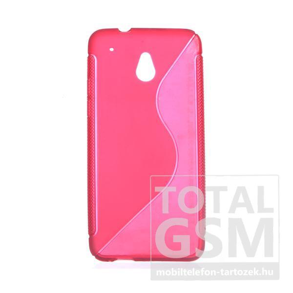 HTC One Mini M4 piros s-line szilikon tok