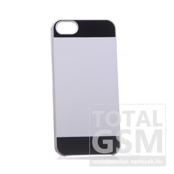 Apple iPhone 5/5s fehér-fekete kemény tok