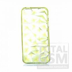 Apple iPhone 5/5s citromsárga kristály mintás kemény szilikon tok