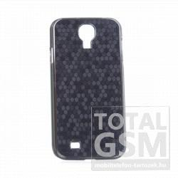 Samsung GT-I9500 Galaxy S4 fekete-ezüst pikkely mintás kemény hátlapi tok