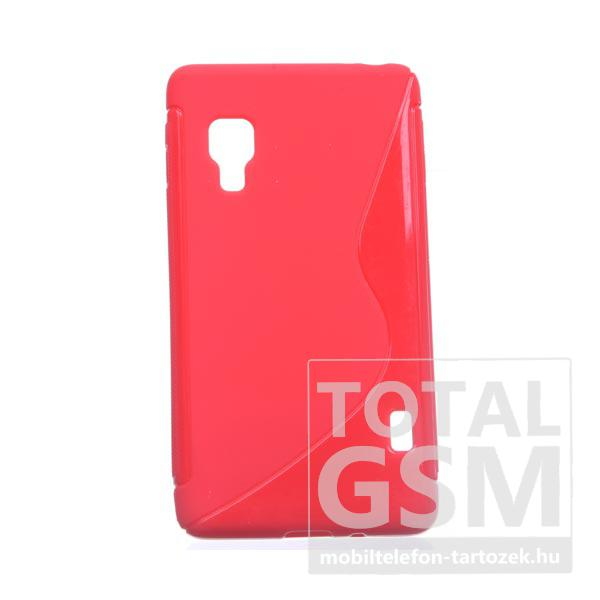 LG L5 II Optimus E460 piros s-line szilikon tok