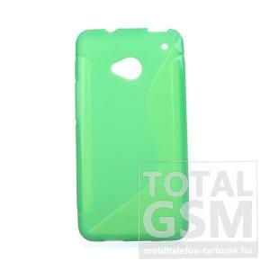 HTC One M7 810e zöld s-line szilikon tok