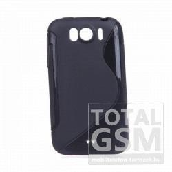 HTC Sensation XL X315E/G21 fekete s-line szilikon tok