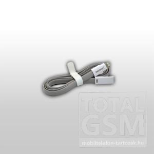 Remax adatkábel Apple iPhone 5/5S/5C fehér-szürke