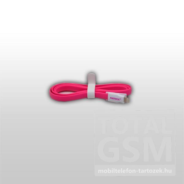 Remax adatkábel Apple iPhone 5/5S/5C fehér-rózsaszín