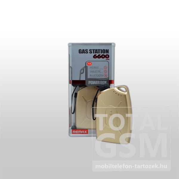 Remax vésztöltő PB-7200, arany, 7200 mAh
