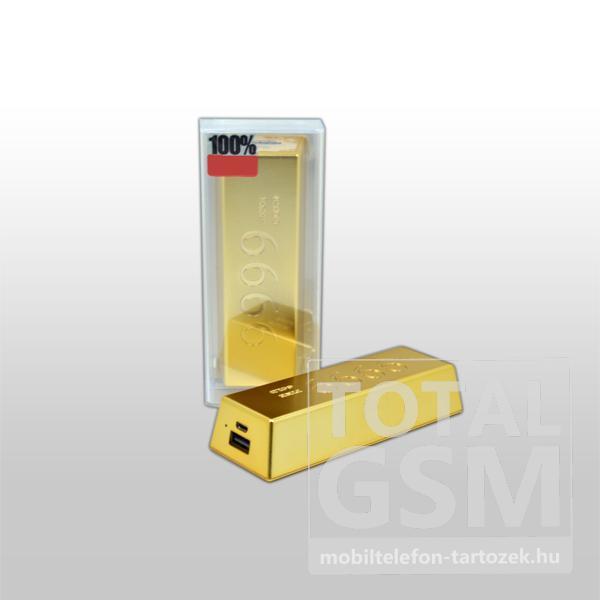 Remax vésztöltő PB-6600, arany, 6600 mAh
