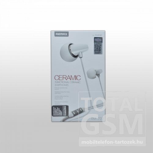 Remax RM-702 Ceramic Headset 3.5mm, Android, fehér
