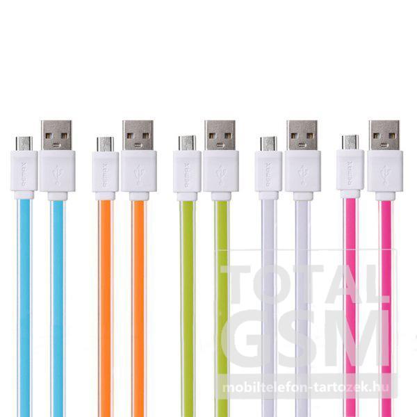 Remax adatkábel Micro USB fehér-narancssárga