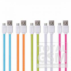 Remax adatkábel Micro USB fehér-zöld