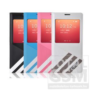 Remax bőr flip tok Samsung SM-N9000 SM-N9005 Galaxy Note 3 fehér-szürke