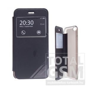 USAMS Samsung SM-N910C Galaxy Note 4 ablakos fekete flip tok