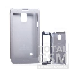 USAMS Samsung N910C Galaxy Note 4 ablakos ezüst flip tok
