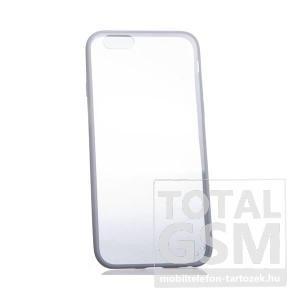 Apple iPhone 6 / 6S fehér szélű-átlátszó kemény szilikon tok