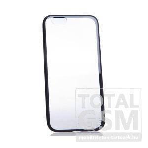 Apple iPhone 6 / 6S fekete szélű-átlátszó kemény szilikon tok