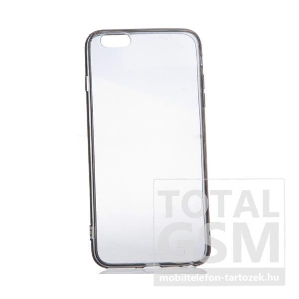 Apple iPhone 6 Plus / 6S Plus fekete szélű-átlátszó kemény szilikon tok
