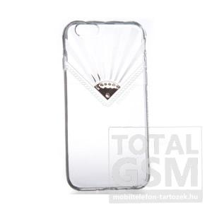 USAMS Apple iPhone 6 / 6S átlátszó köves szilikon tok