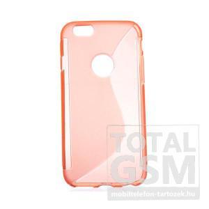 Apple iPhone 6 / 6S narancssárga s-line szilikon tok