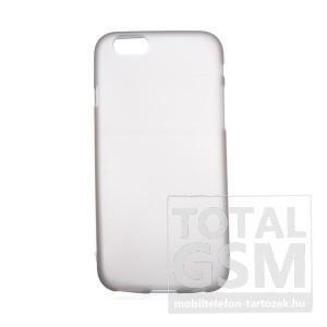 Apple iPhone 6 / 6S fekete-átlátszó szilikon tok