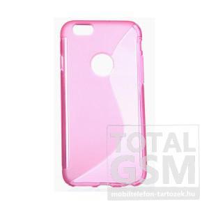 Apple iPhone 6 / 6S rózsaszín s-line szilikon tok