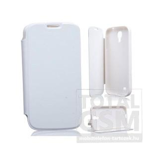 Samsung SM-G800 Galaxy S5 Mini fehér notesz TPU-bőr flip tok