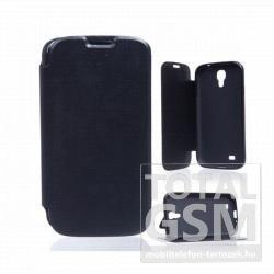 Samsung GT-I9500/GT-I9505 Galaxy S4 fekete notesz TPU-bőr flip tok