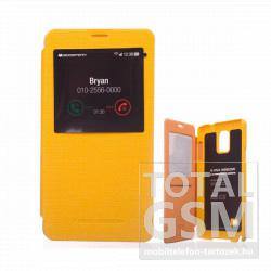 Samsung SM-N910C Galaxy Note 4 citromsárga flip tok ablakos GOOSPERY