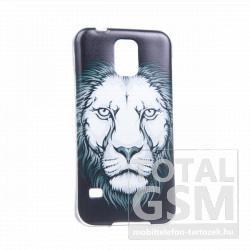 Samsung GT-I9500 GT-I9505 Galaxy S4 színes oroszlán mintás szilikon tok TPU 0.3mm