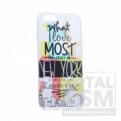 Samsung GT-I9500 GT-I9505 Galaxy S4 színes New York mintás szilikon tok TPU 0.3mm